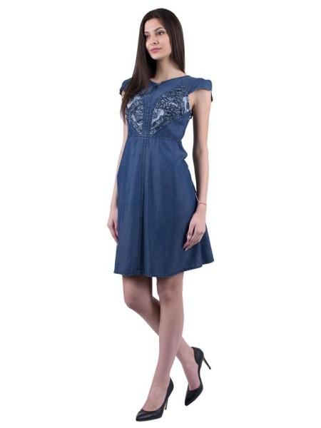 Лятна дънкова рокля от тенсел деним R 19145